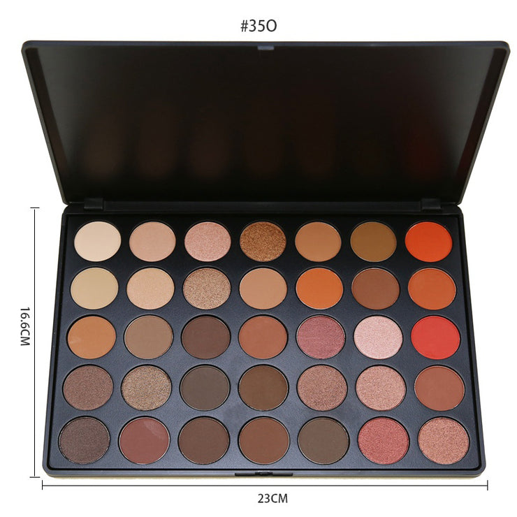 35 colors earth color pearlescent waterproof eyeshadow - showemakeup