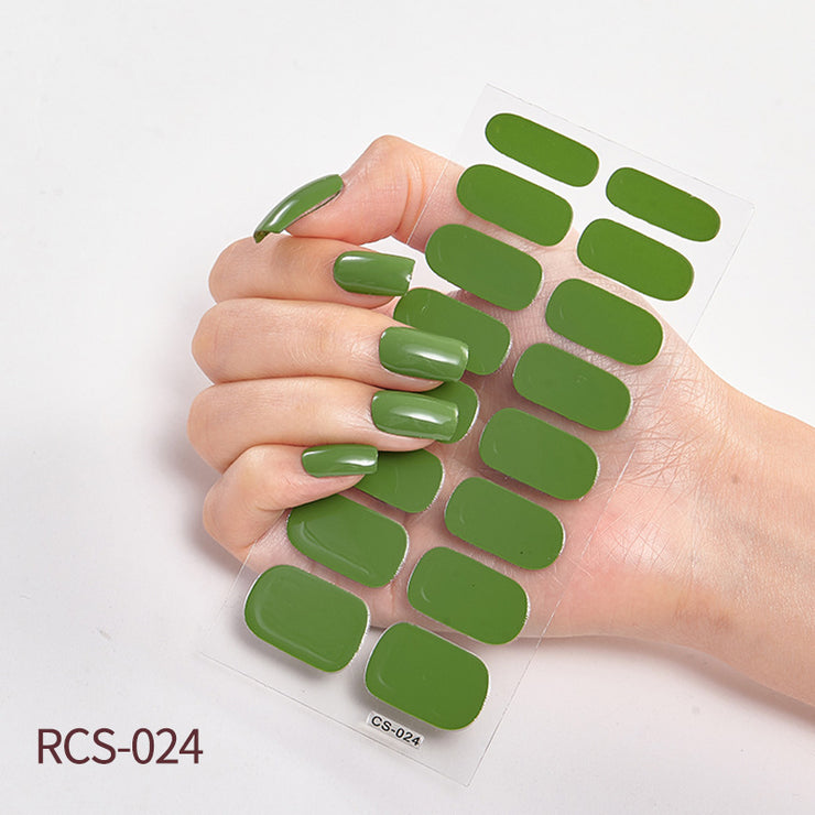 Nail Polish Stickers Self-Adhesive Nail Art Decals Strips - showemakeup