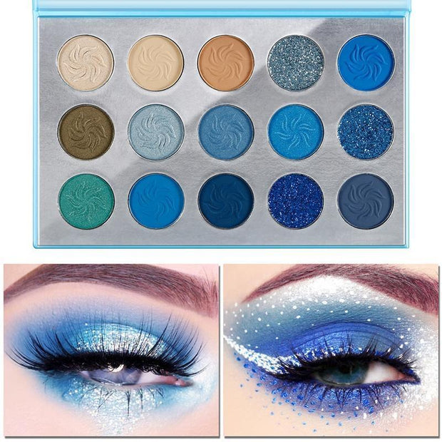 4 Colors Palettes for 15 Colors  Eyeshadow - showemakeup