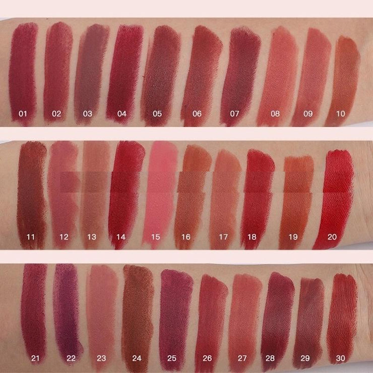 waterproof colorful high pigmented matte lipstick - showemakeup