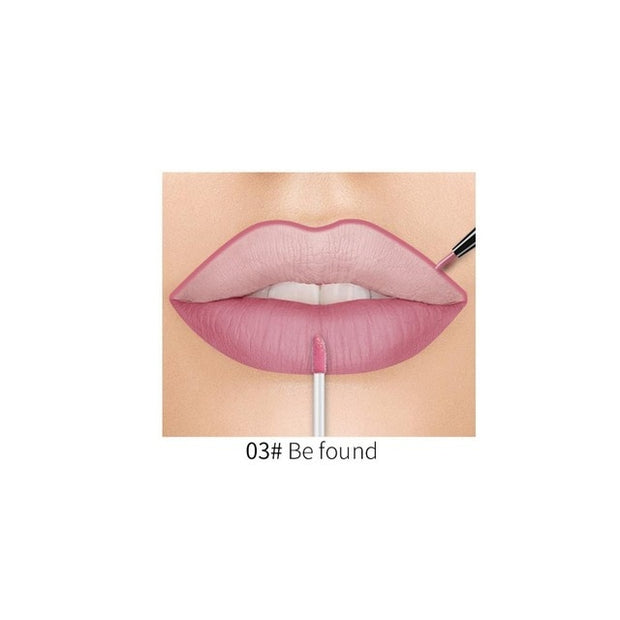 Waterproof Gloss Matte Lip Liner Double Head 20 Colors - showemakeup
