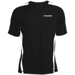 The STUCK1 Colorblock Dry Zone Crew white on black is a cool way to keep you cooler when things heat up. The patented moisture-wicking technology is great for fighting odor and helps increase performance and flexibility with colorblock side panels, raglan sleeves. The unique construction of the Colorblock Dry Zone Crew also allows for easy movement.