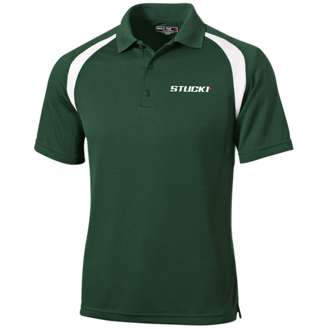 STUCK1 Pro Series Moisture-Wicking Golf Shirt In Forest Green/White