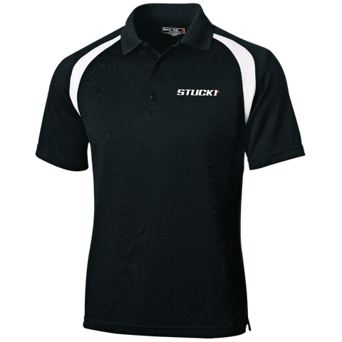 STUCK1 Pro Series Moisture-Wicking Golf Shirt In Black/White