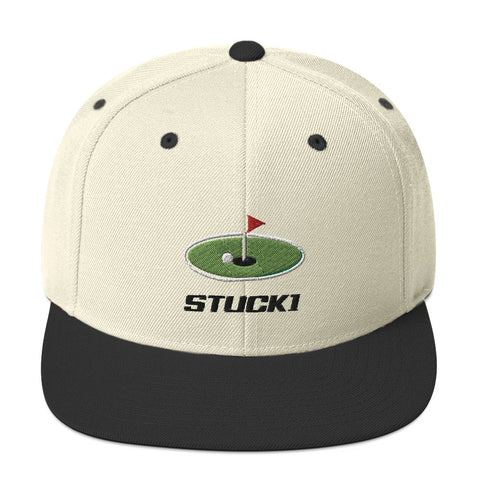 STUCK1 PRO SERIES FLG SNAP BACK NATURAL/BLACK - STUCK1 Golf Hats