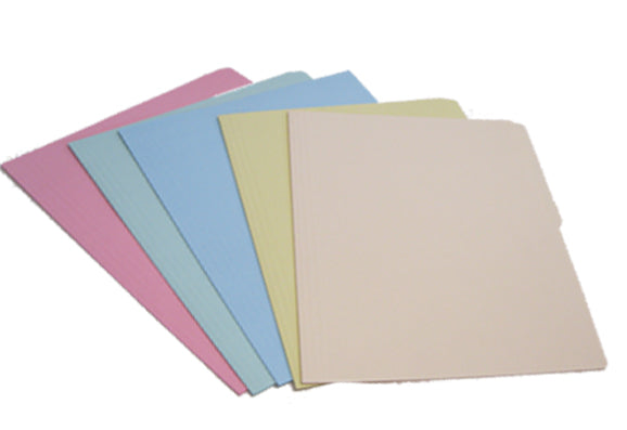 FOLDER CARTA Y OFICIO COLORES PASTEL