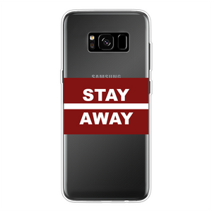 Stay Away Back Printed Transparent Soft Phone Case