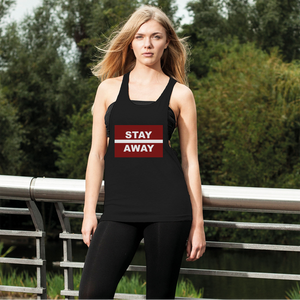 Stay Away Women's Loose Racerback Tank Top