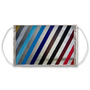Stripes Face Mask. Reusable. PM2.5 Activated Carbon Filter.