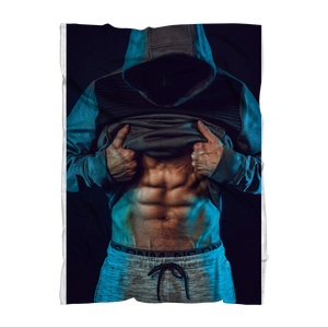 Male Abs Premium Sublimation Adult Blanket
