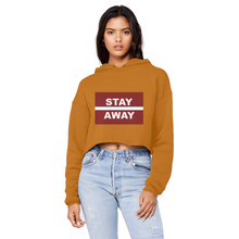 Load image into Gallery viewer, Stay Away Unisex Cropped Raw Edge Boyfriend Hoodie