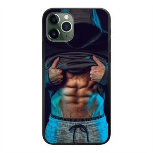 Male Abs Phone Case Back Printed Black Soft Phone Case