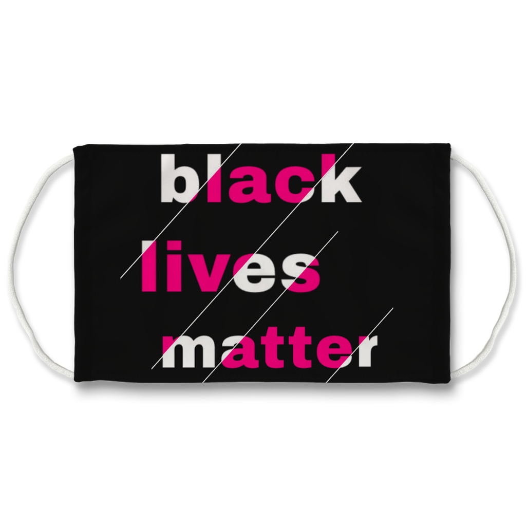 Black Lives Matter Face Mask. Reusable. PM2.5 Activated Carbon Filter.