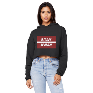 Stay Away Unisex Cropped Raw Edge Boyfriend Hoodie