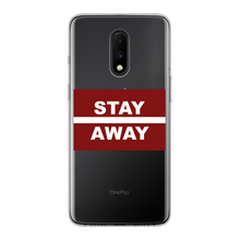 Load image into Gallery viewer, Stay Away Back Printed Transparent Soft Phone Case