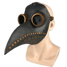 Load image into Gallery viewer, Medieval Steampunk Plague Doctor Bird Mask Latex Punk Cosplay Masks Beak Adult Halloween Event Cosplay Props RB
