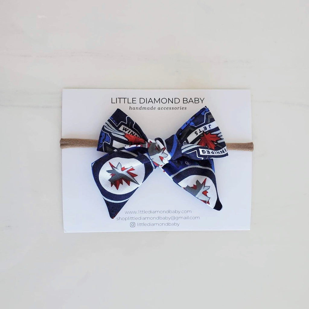 Winnipeg Jets Hand Tied Bows
