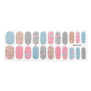 Korean Nail Gel Sticker - MATTE 002