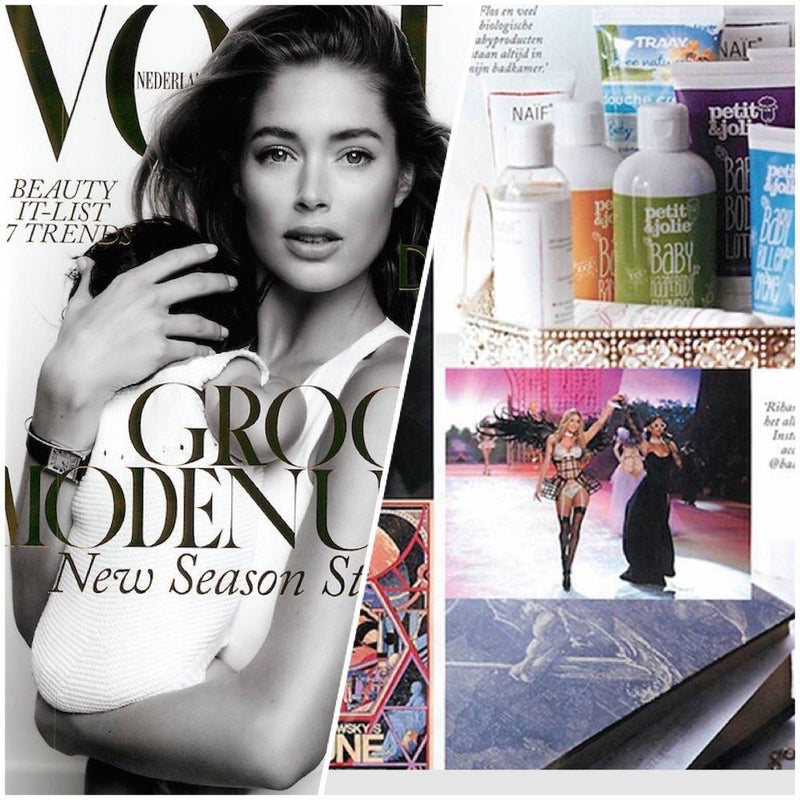 Doutzen Kroes reveals her favorite Baby Care Products in Vogue
