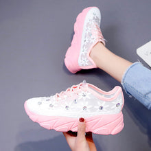 Load image into Gallery viewer, ADORRNA Women's Lace-up Sneaker Flower Ladies Shoes Sneakers 2020