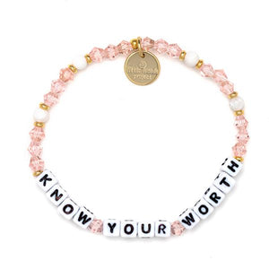 Little Words Project - Pink Crystal/White Bead