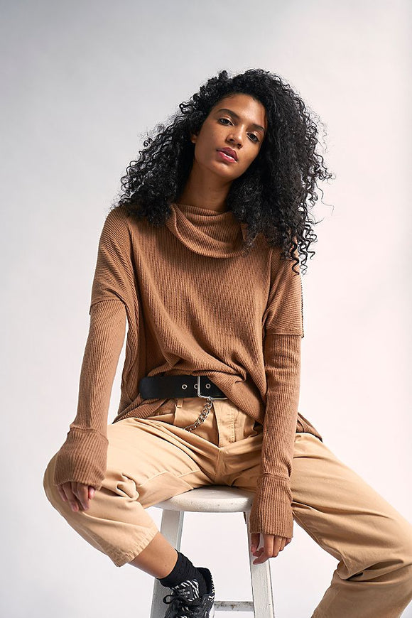 Free People Rosa Ribbed Long Sleeve