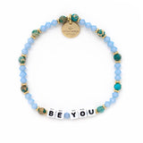 Little Words Project - Blue Crystal/Green Bead
