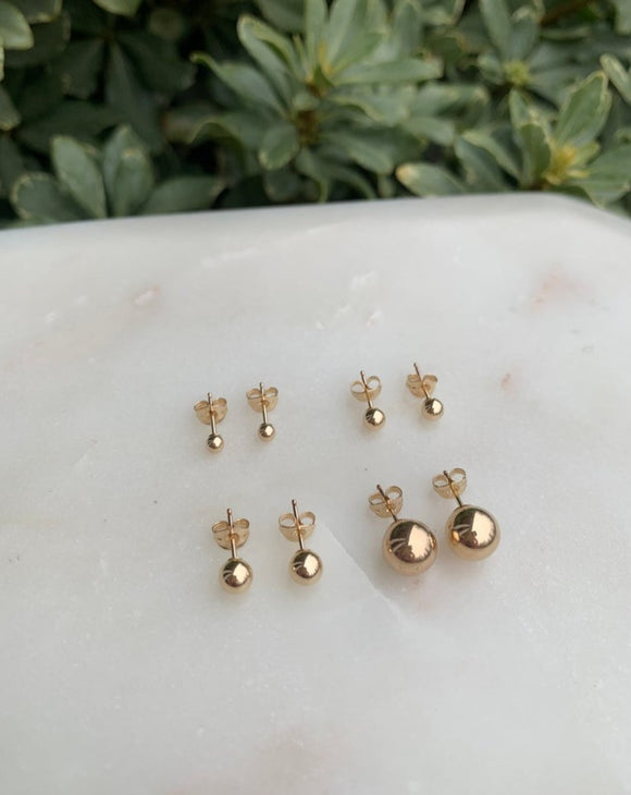 14k Gold Filled Stud Earrings