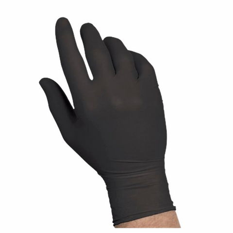 Black Nitrile Gloves [Box of 100] - MDSupply.Store