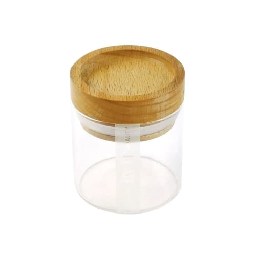 RYOT Clear Jar w/Seal & Beech Tray