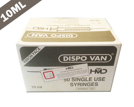 HMD Dispo Van Syringe with Needle - 10ML DUO (Pack of 50)