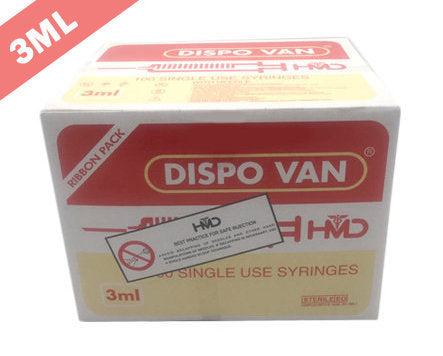 HMD Dispo Van Syringe with Needle - 3ML DUO (Pack of 100)
