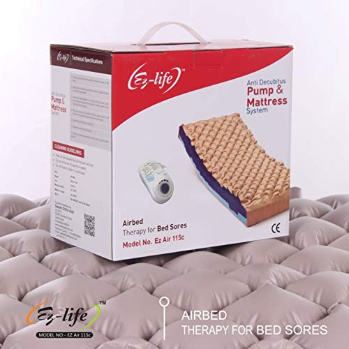 EZ-LIFE Anti Decubitus Pump & Mattress System | Air Bed Mattress with Air Pump
