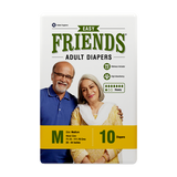 Friends Easy Adult Diapers - (Pack of 10)