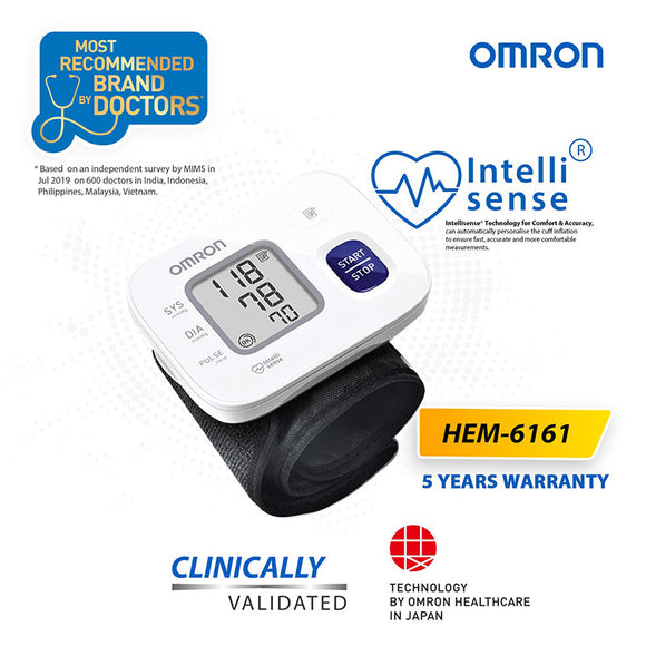 OMRON WRIST BLOOD PRESSURE MONITOR