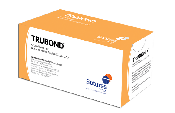 Trubond Coated Polyester Sutures (SN) - (Pack of 12)