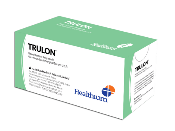 Trulon Synthetic Non-Absorbable Sutures (SN) - (Pack of 12)