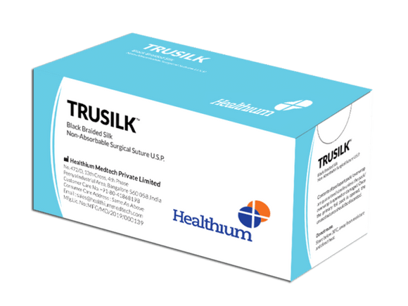 Trusilk Non-Absorbable Silk Sutures (SN) - (Pack of 12)