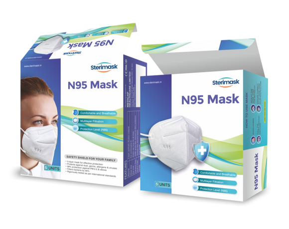 Steri-Mask N95 Respirator (Pack of 5)
