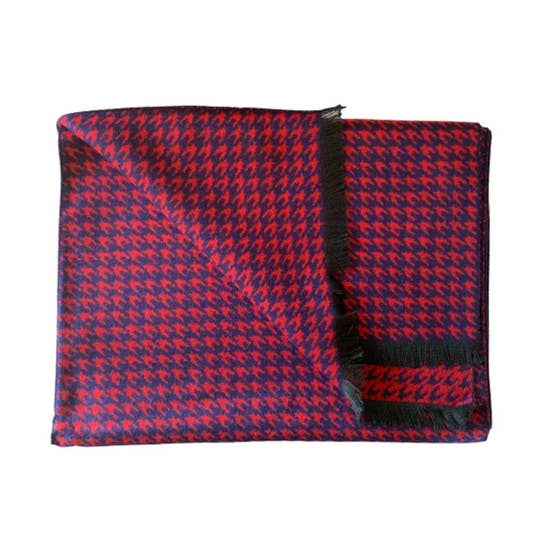 Bamboo Scarf- Red Houndstooth
