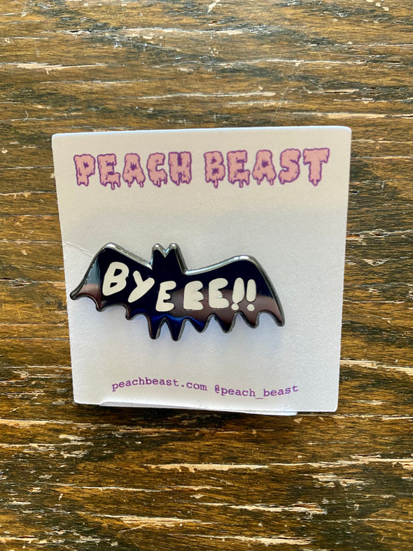 Enamel Pin-Byeee Bat