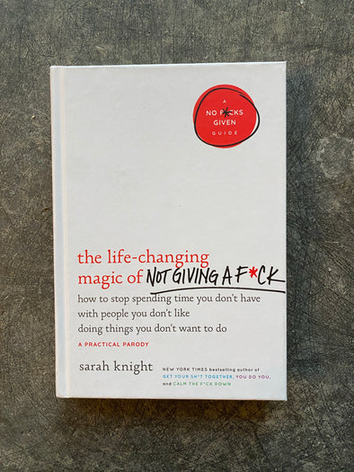 Book-Life-Changing Magic Of Not Giving A Fuck