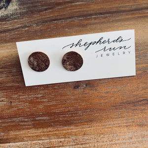 Thumbtack stud earrings - 14K Gold Overlay