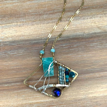 Load image into Gallery viewer, Amazonite + Apatite One of a Kind Necklace