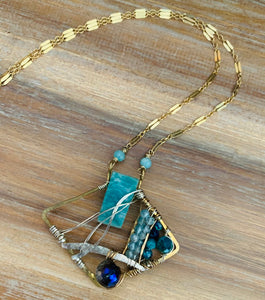 Amazonite + Apatite One of a Kind Necklace