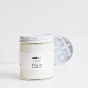 Noted. White Tea Lavender Glass Jar Candle