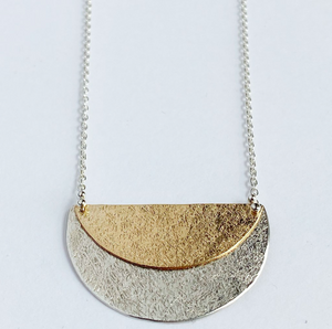 Eclipse Necklace Sterling Silver & Gold Fill