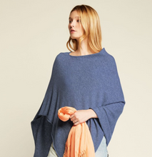 Load image into Gallery viewer, Cashmere Poncho - Denim