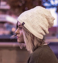 Load image into Gallery viewer, Winter Knit Peek-a-Boo Beanie