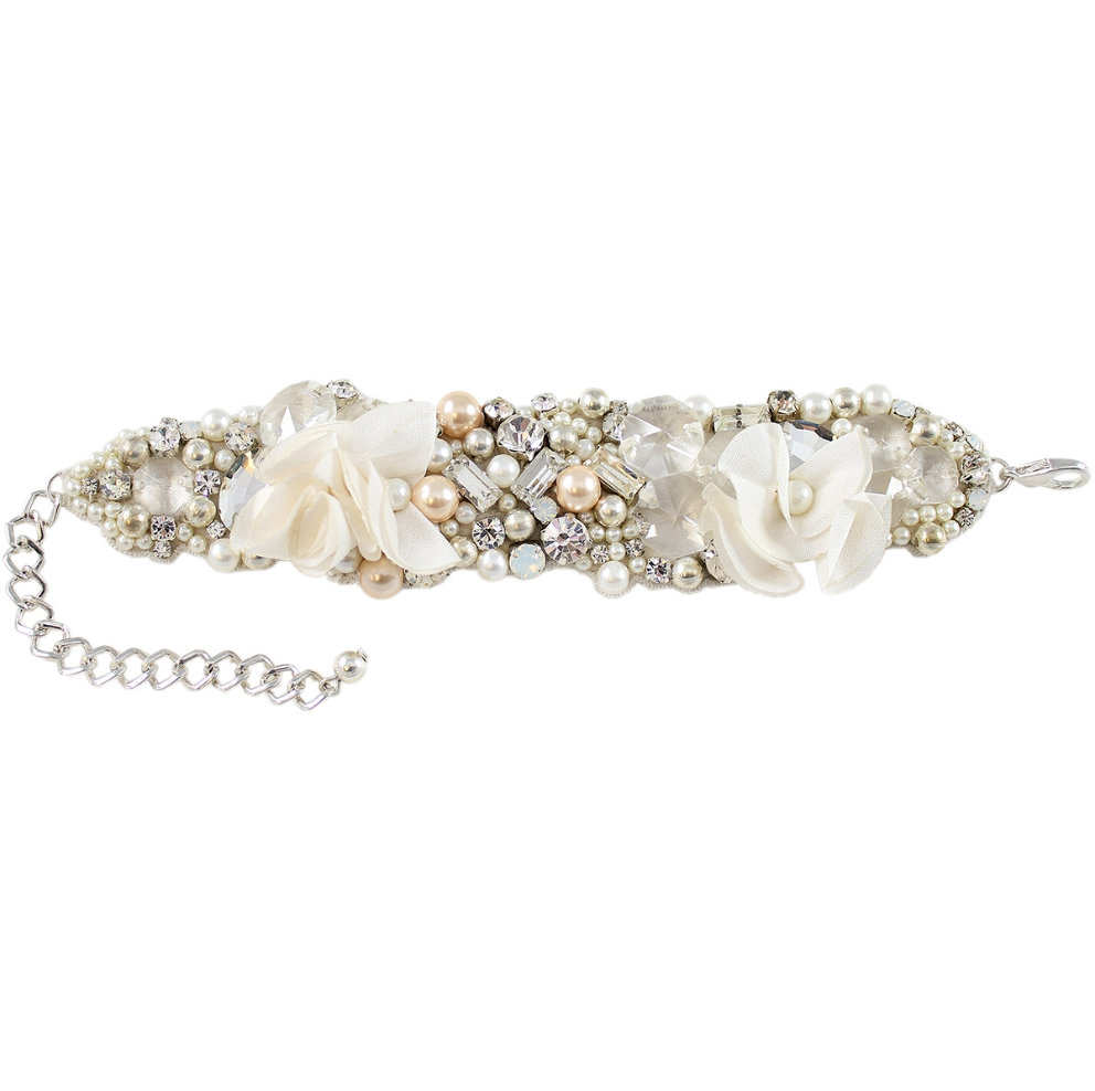 White Wedding Pearl Bracelet